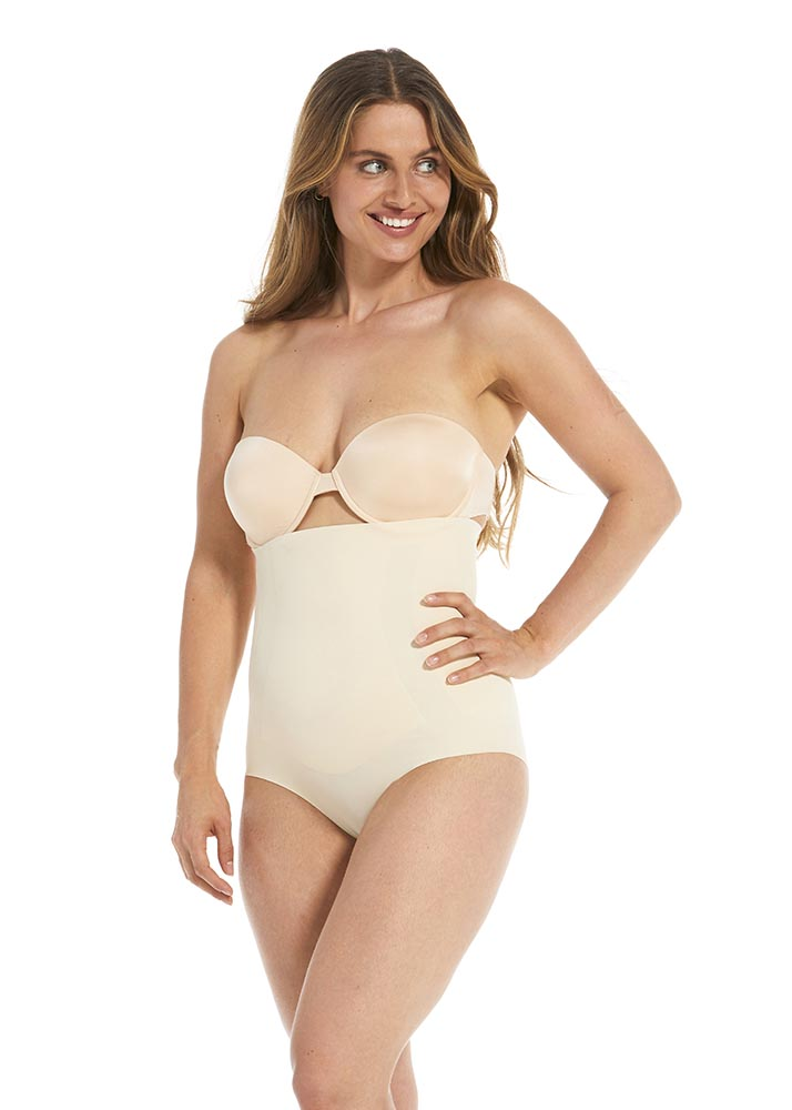 MAGIC high brief shapewear latte