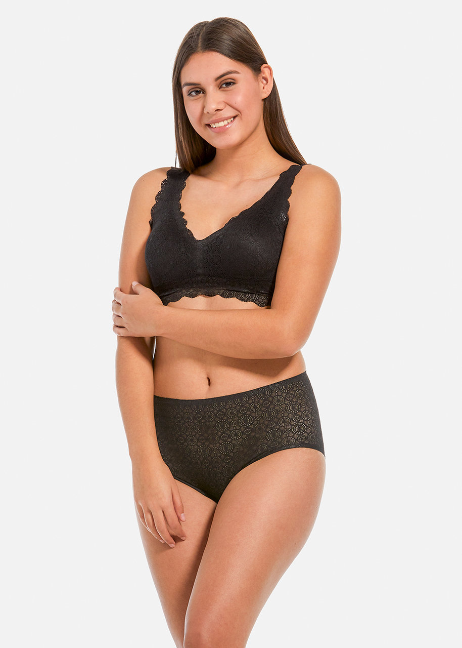 MAGIC Dream Lace Hipster Panty Black