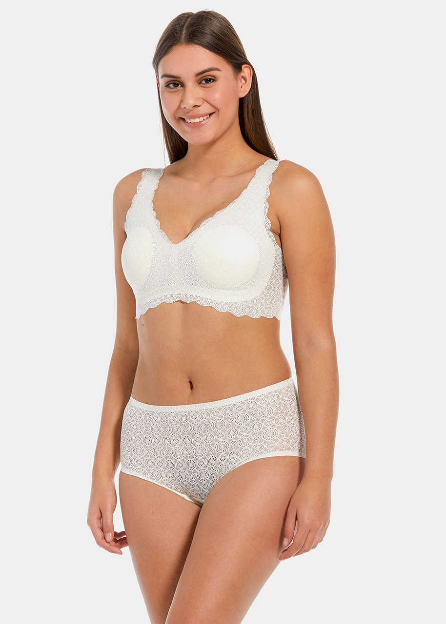 Dream Lace Hipster Panty White